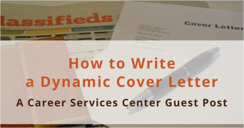 how to write dynamic cover letter