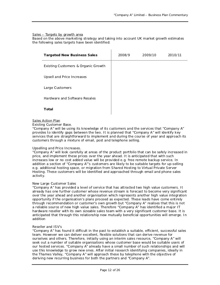 How to Write A Good Business Plan Template Business Plan Sample Uk Business form Templates