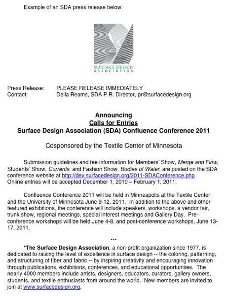 How to Write A Good Press Release Template Example Of An Sda Press Release Surface Design