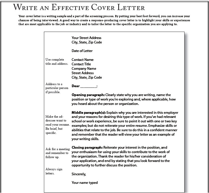 good simple cover letter examples