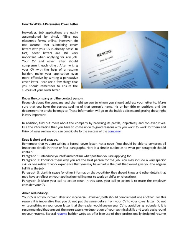 writing cover letter ppt