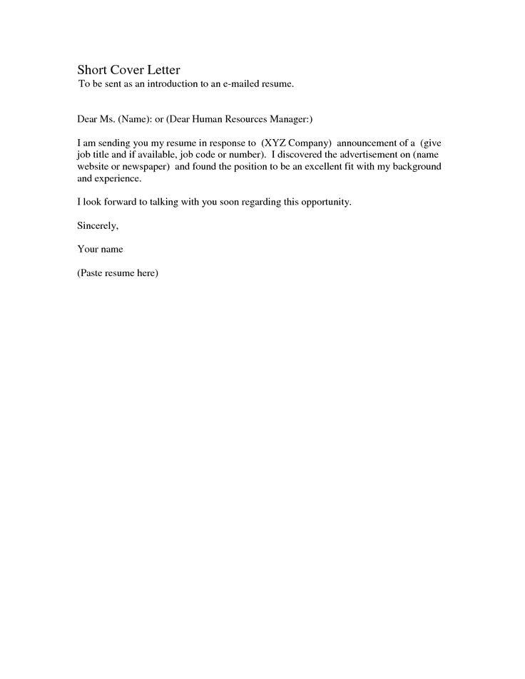 short cover letter samples