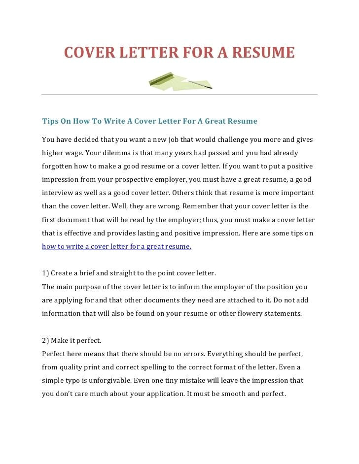 how to write a really cover letter
