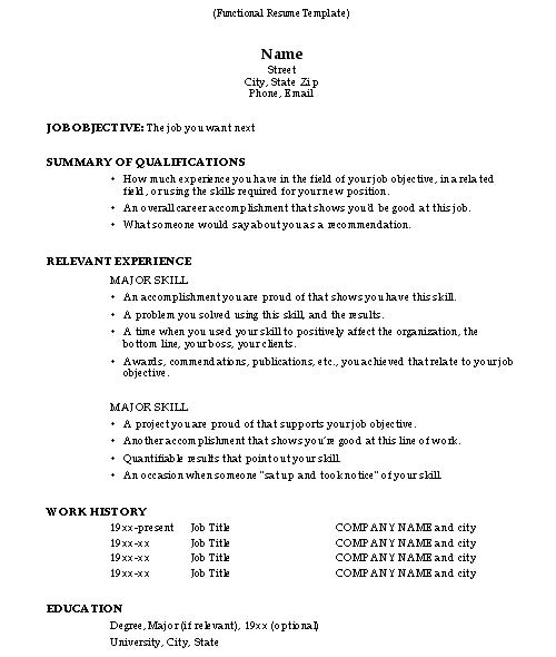 how to do a resume 2