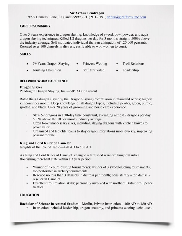 how to write a resume sample