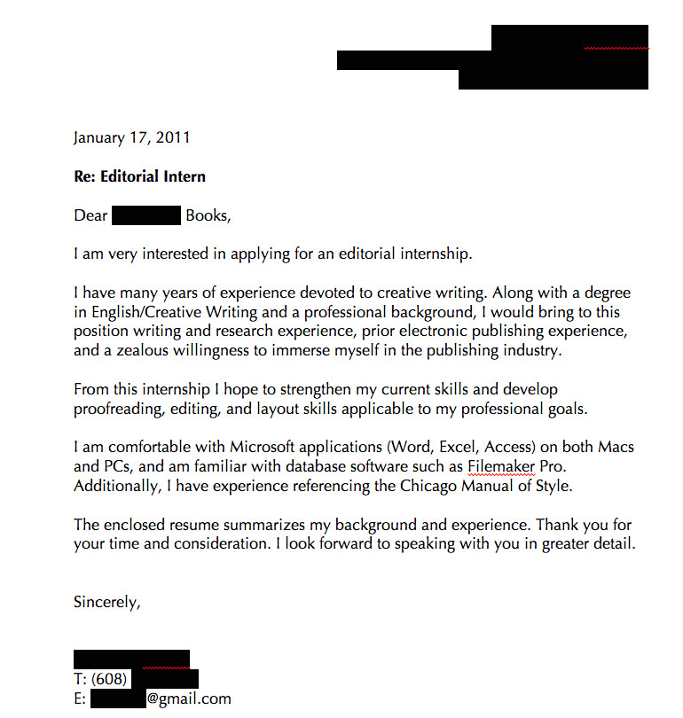 cover letters that dont work