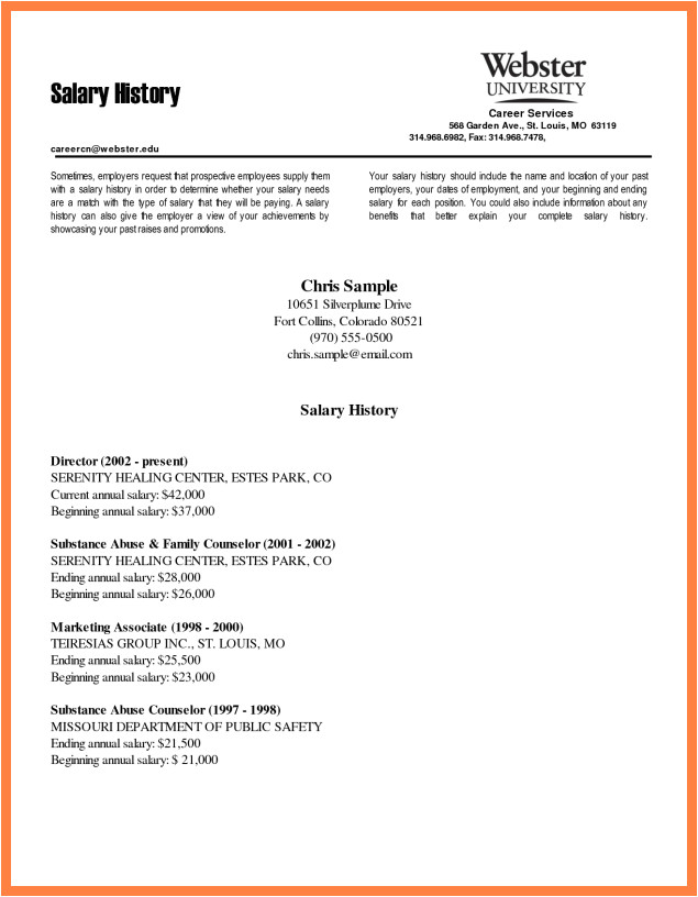 How to Write Cover Letter with Salary Requirements 6 Salary History Request Salary Slip