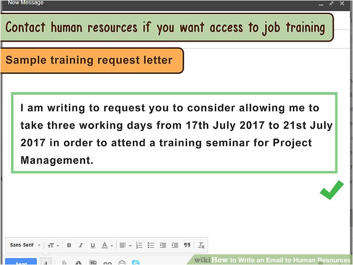 How to Write Email to Hr for Sending Resume Sample 3 Ways to Write An Email to Human Resources Wikihow