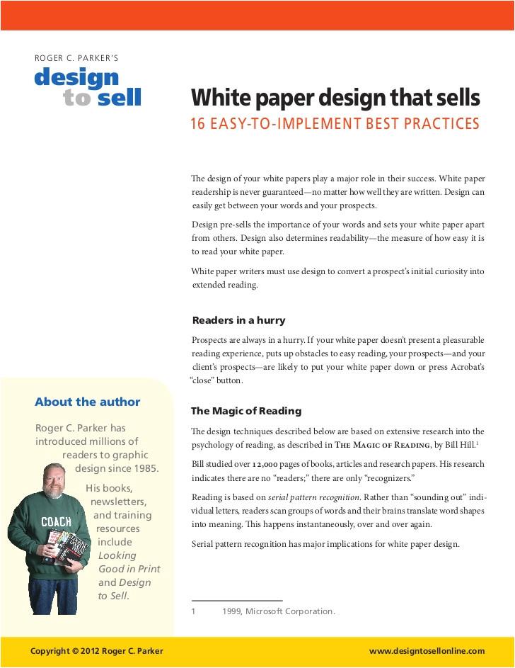 white paper design that sells