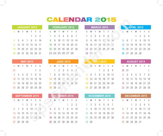 hp calendar template
