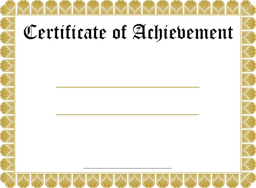 certificate template free