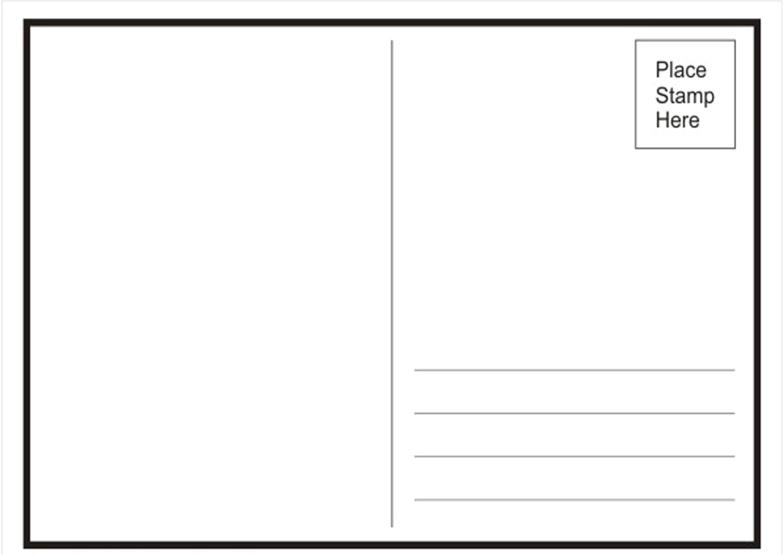 postcard template word