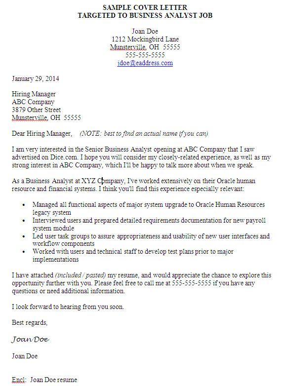 cover letter finance business partner