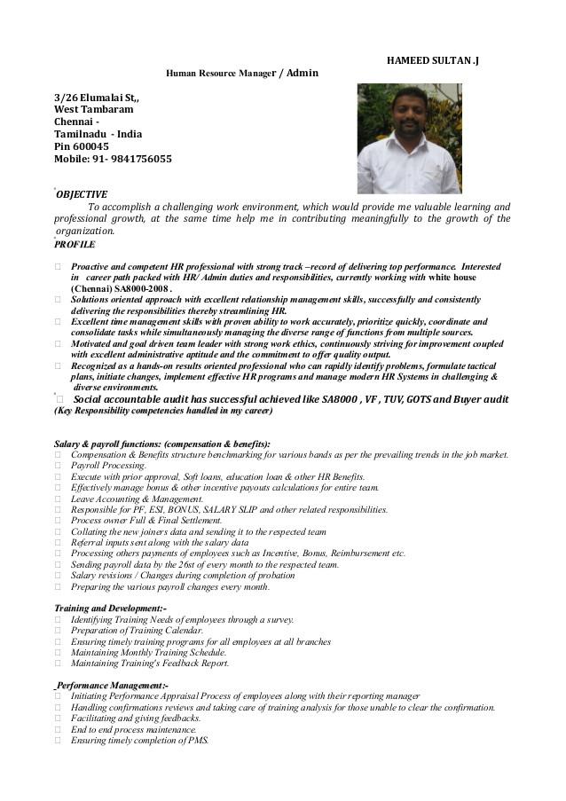 resume hameed hr