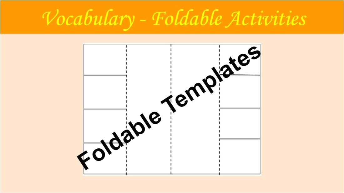 vocabulary flip book template
