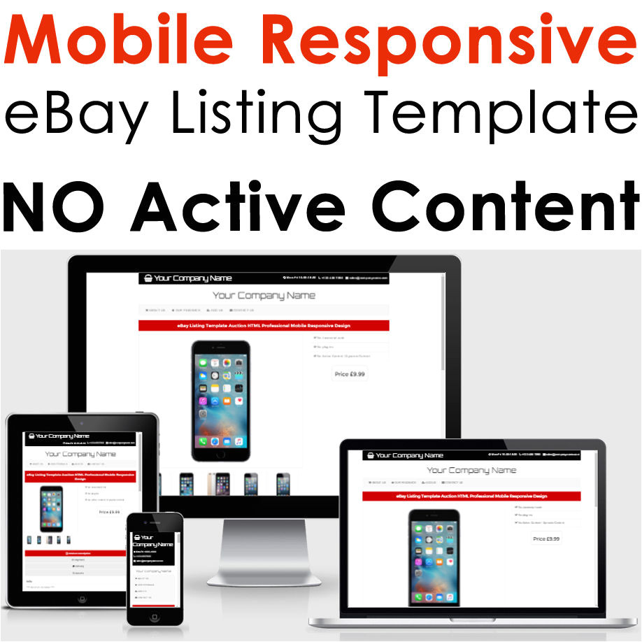 Html for Ebay Listing Template מוצר Ebay Listing Template Auction HTML Professional