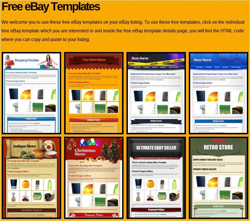 free ebay templates