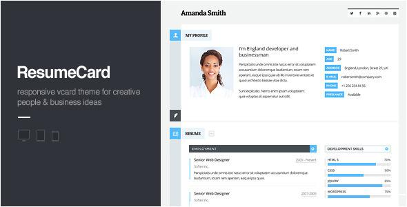 html responsive virtual business card templates