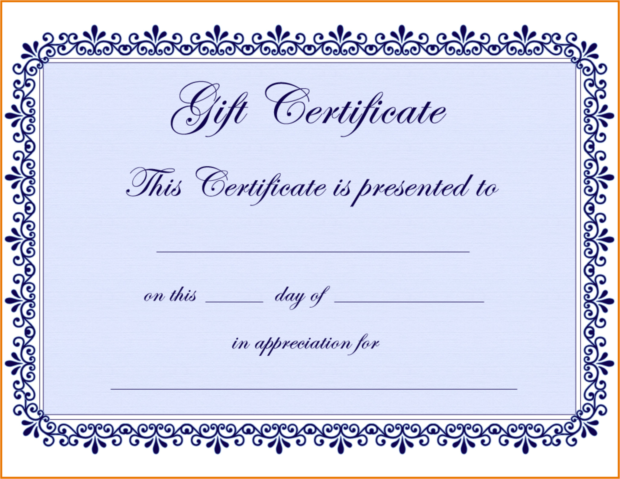 free gift certificate template pages sample