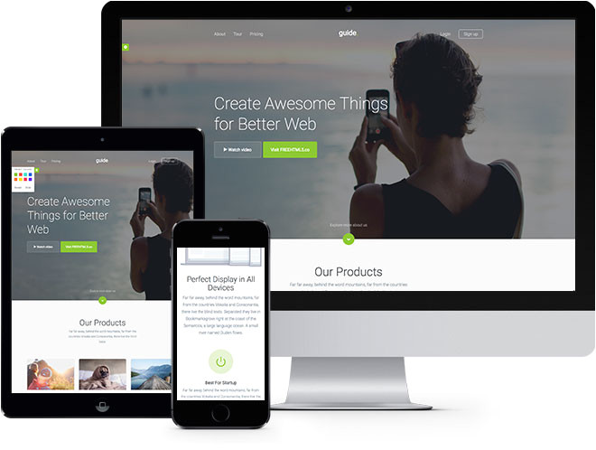 guide free html5 bootstrap template