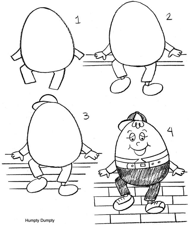 Humpty Dumpty Puzzle Template Inkspired Musings Nursery Rhymes with Humpty Dumpty