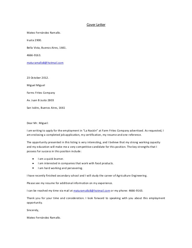 cover letter i am a quick learner