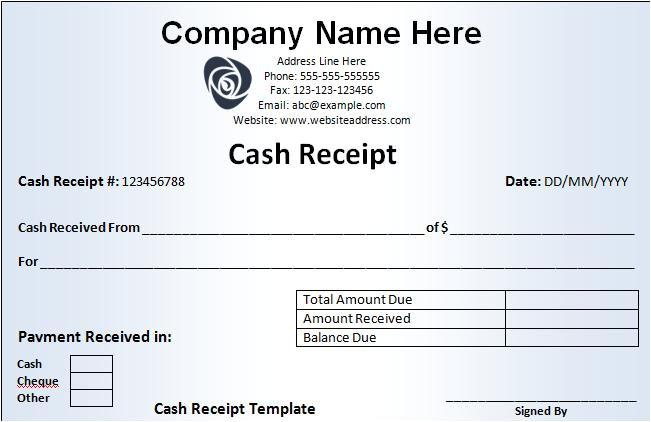 receipt templates