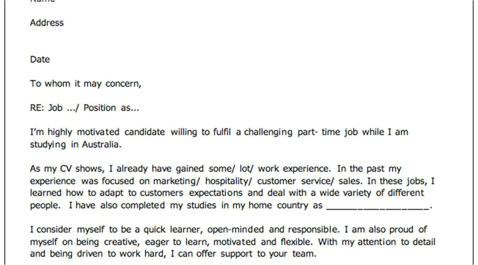 need help to do my resume