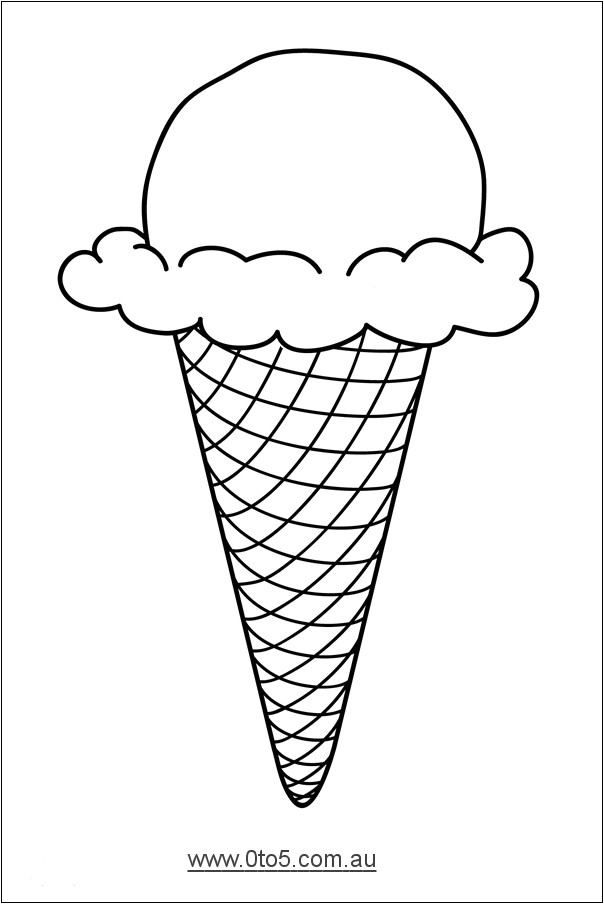 Ice Cream Cone Pattern Template 0to5 Com Au Ice Cream Cone Template Suitable for Young
