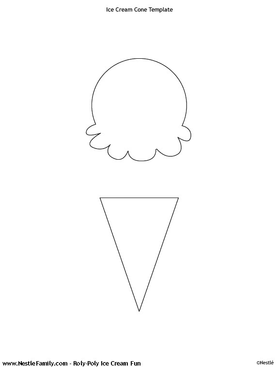 post preschool ice cream cone pattern 302594