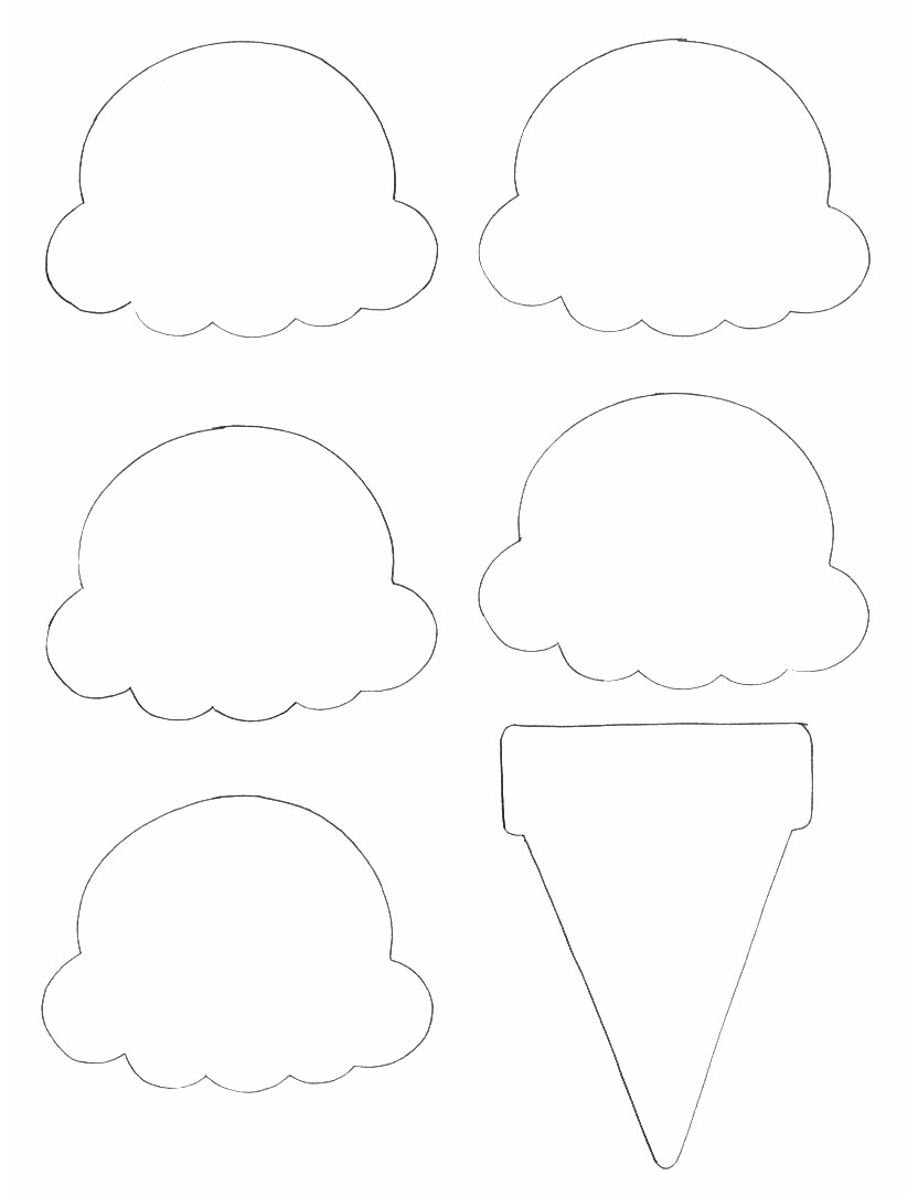 Ice Cream Craft Template Story Time Secrets Flannel Friday Three Ice Cream Cones