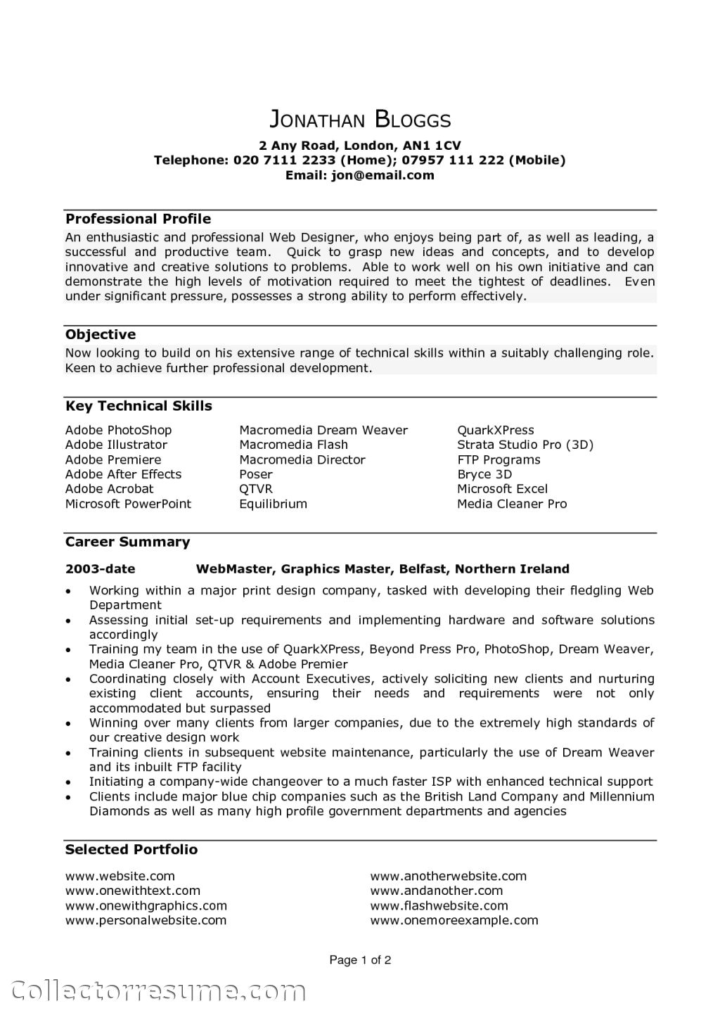 21664 resume template example