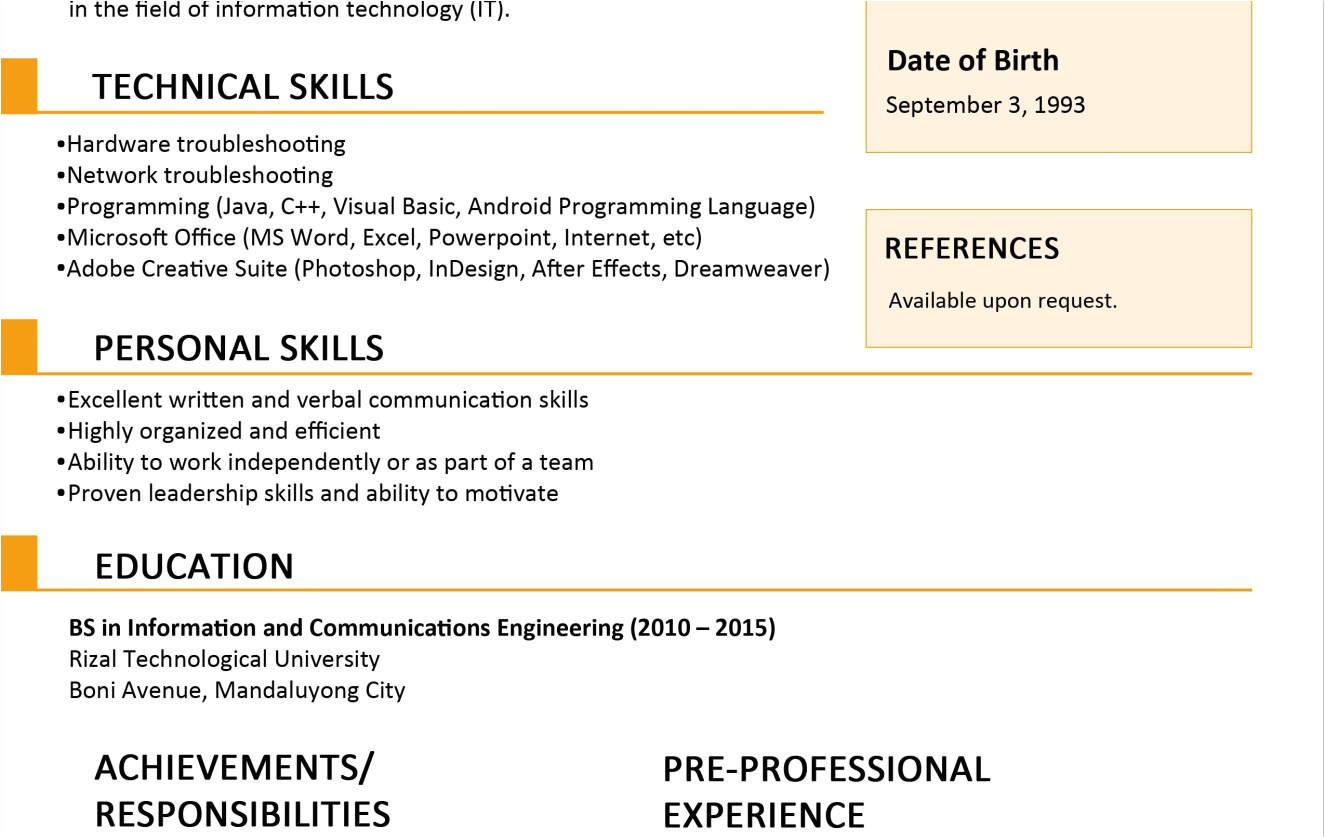 jobstreet resume template