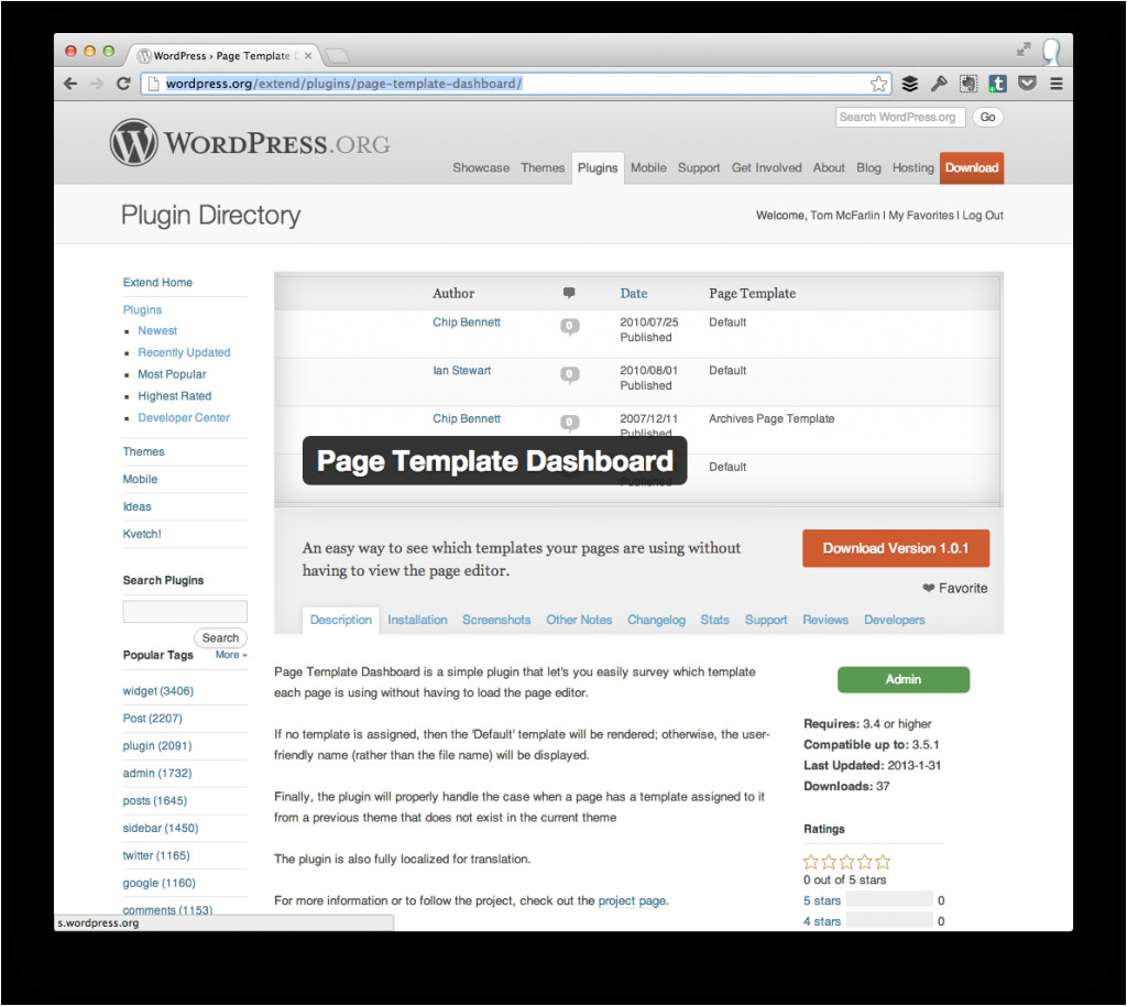 If Page Template WordPress View Page Templates In the WordPress Dashboard tom