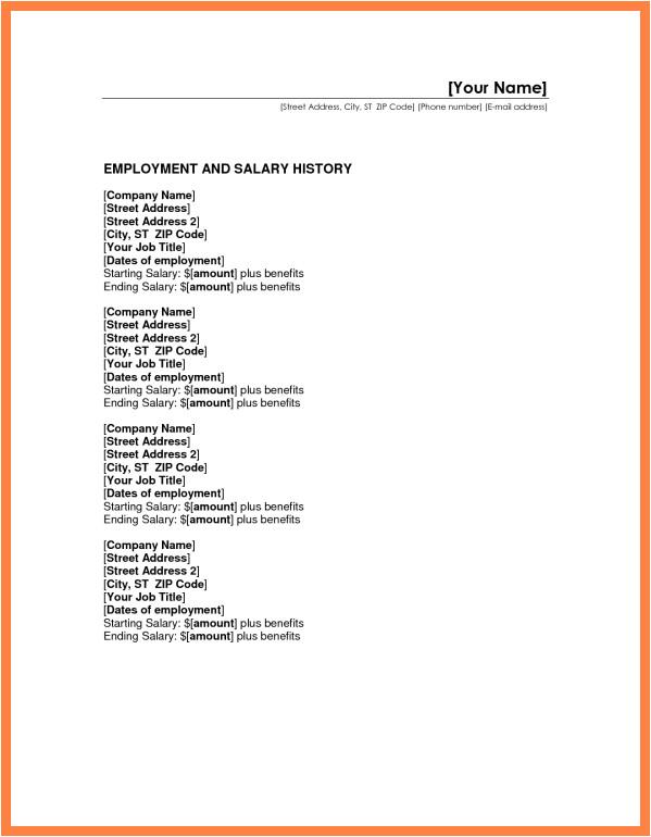 7 resume salary history