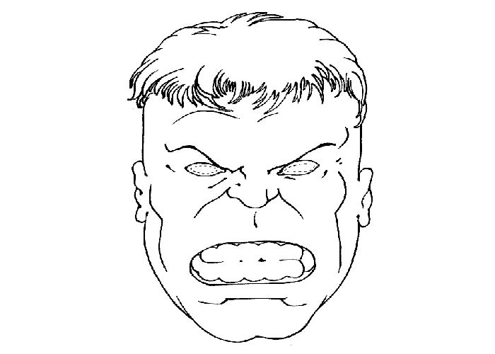 Incredible Hulk Face Template Incredible Hulk Coloring Pages Printable