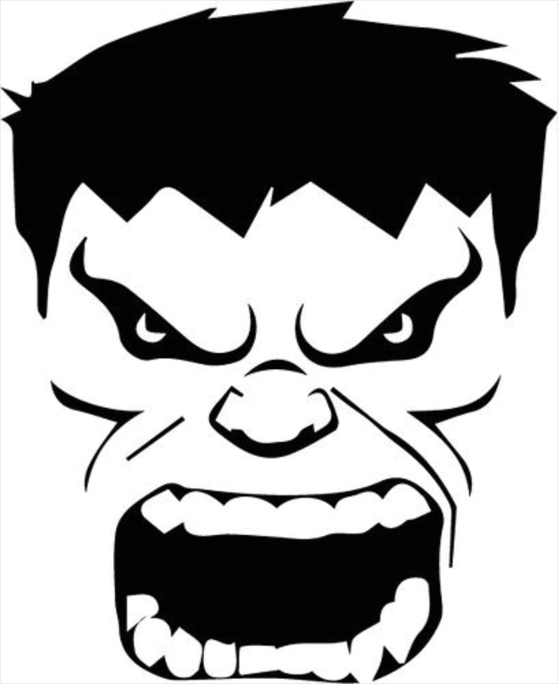 incredible hulk face template