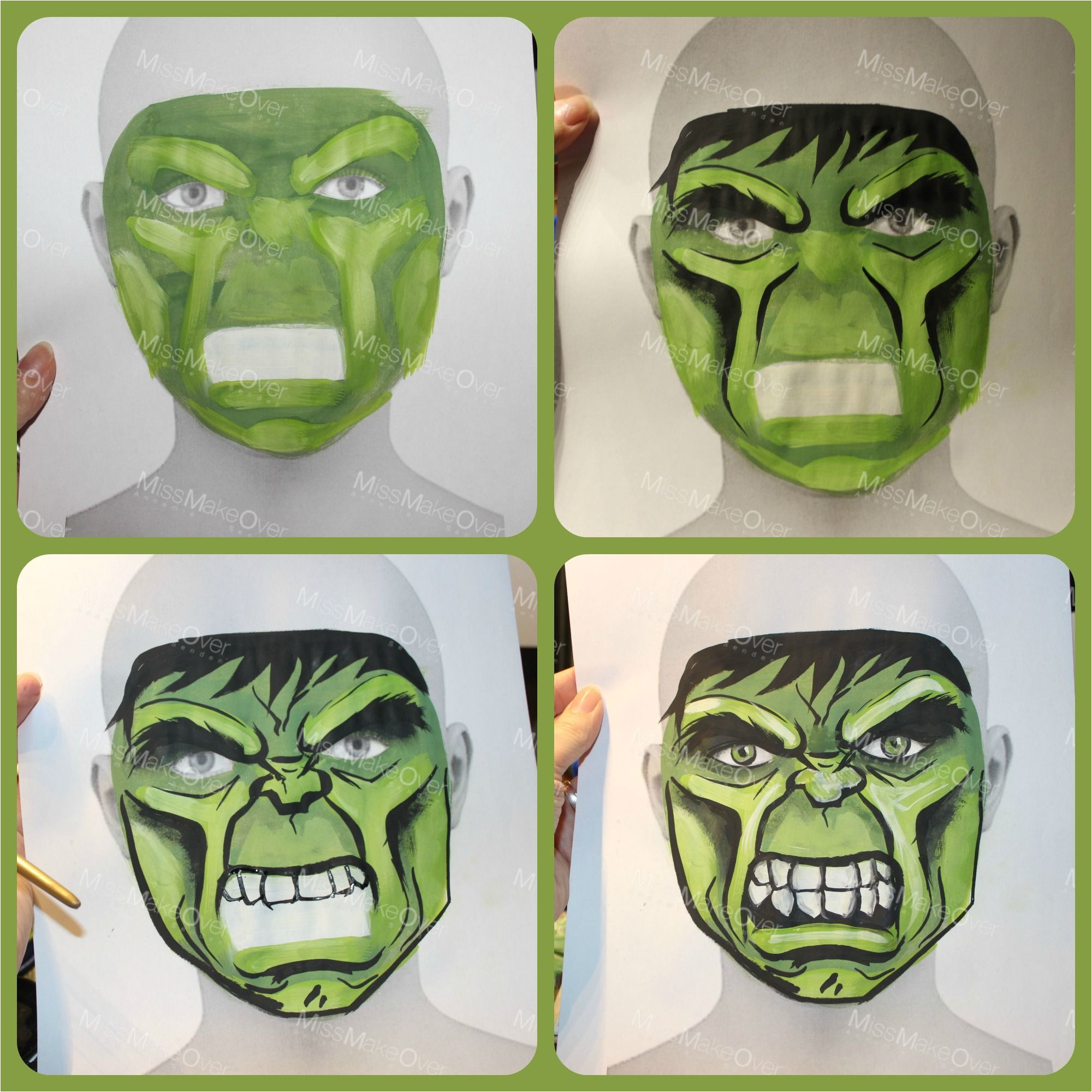 Incredible Hulk Face Template the Incredible Hulk Face Paint Sketch On Face Template by