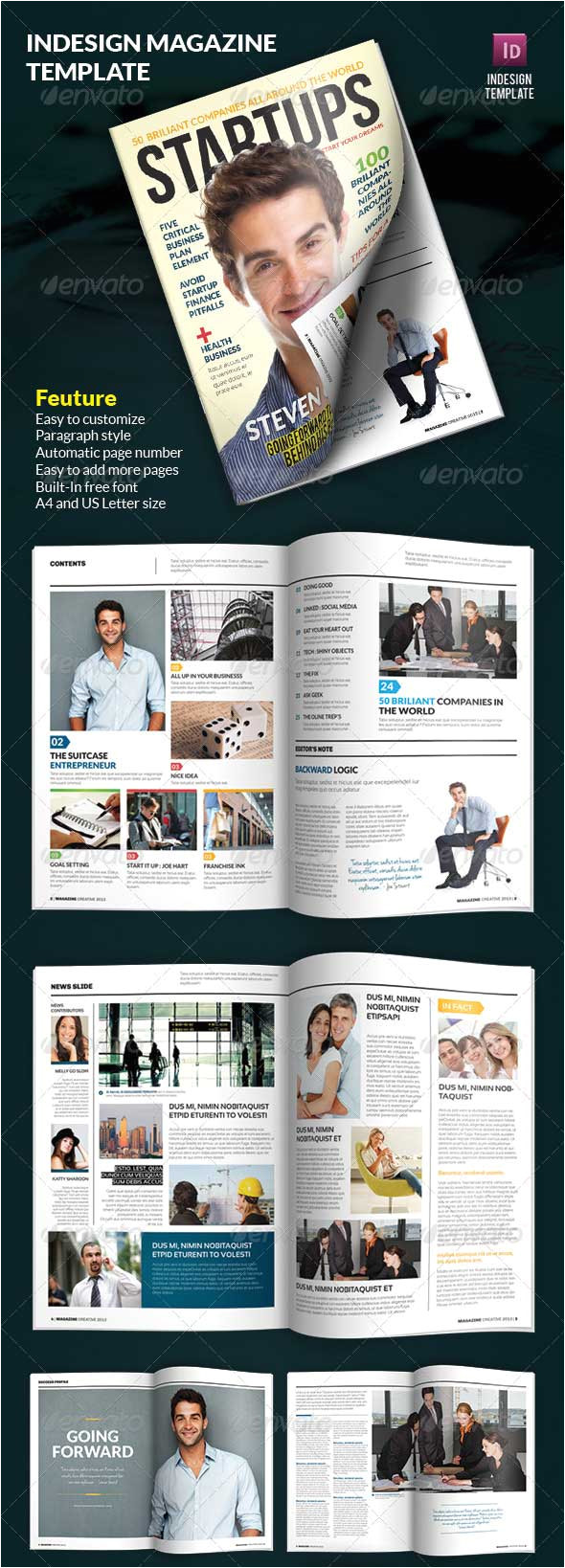magazine templates photoshop psd indesign download