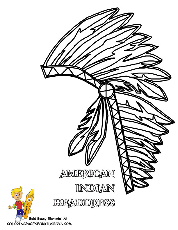 Indian Headdress Template Headdress Coloring Download Headdress Coloring