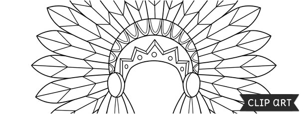 Indian Headdress Template Indian Headdress Template Clipart