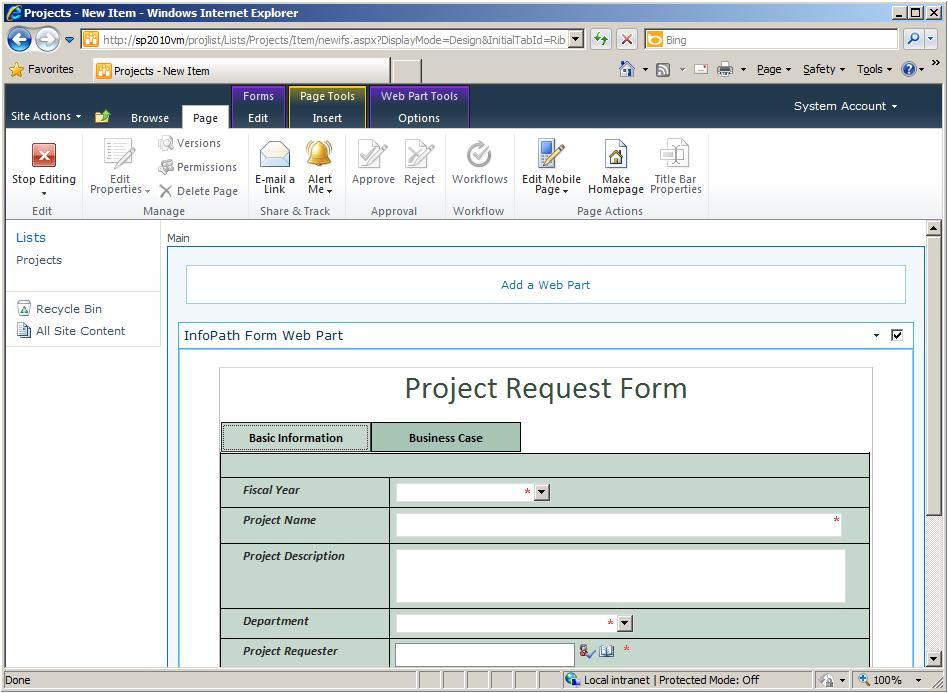 infopath 2007 form templates
