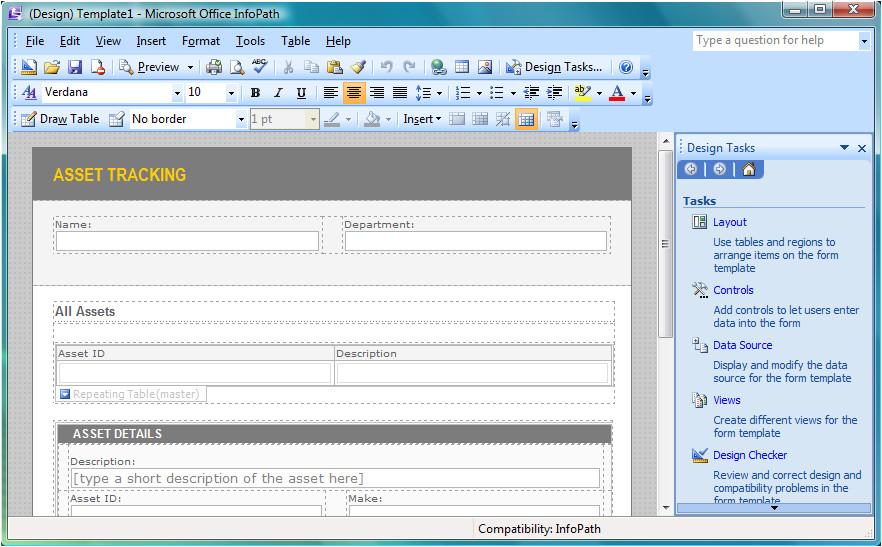 Infopath 2007 form Templates Microsoft Infopath
