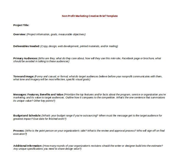 information brief template