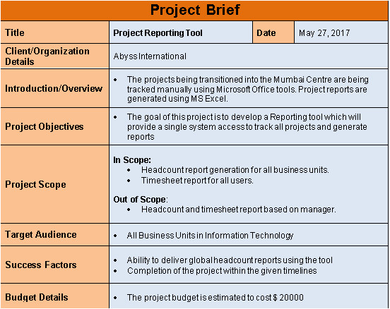 project intiation templates