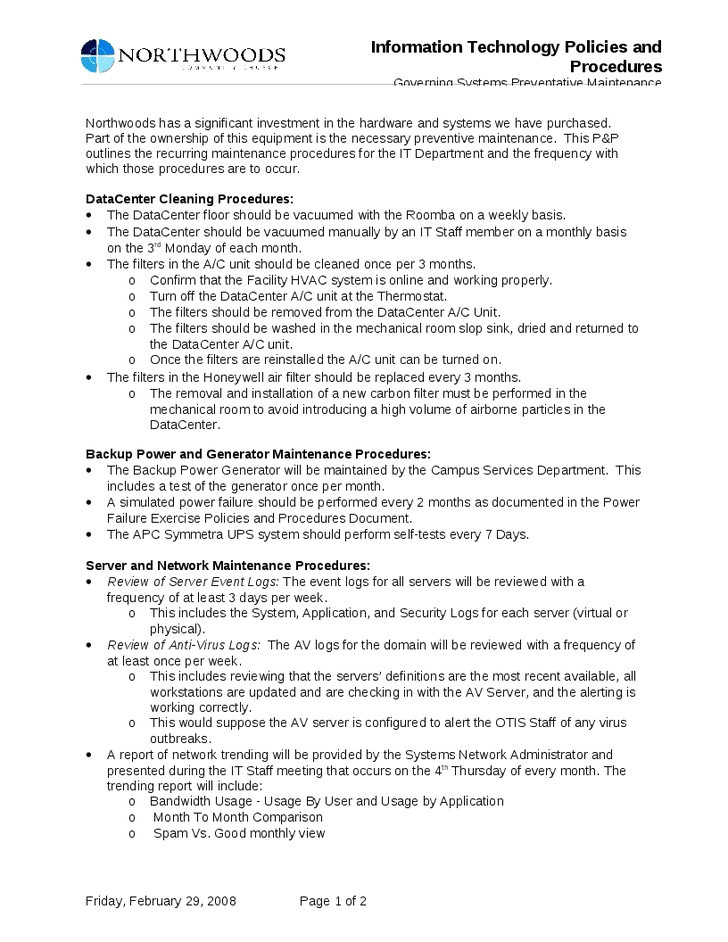 information technology policies and procedures templates 41 beautiful policies and procedure manual template