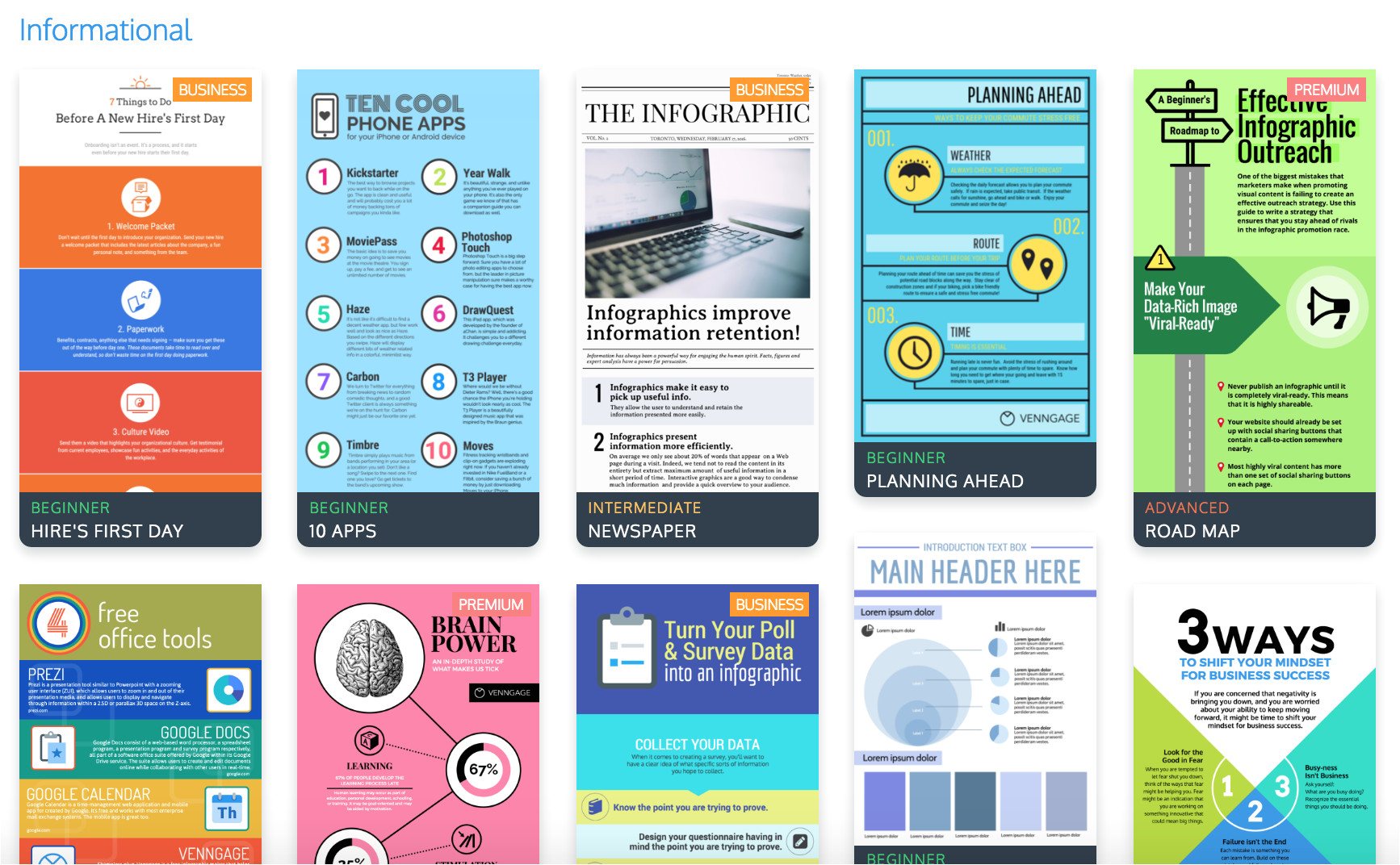 9 types of infographic template