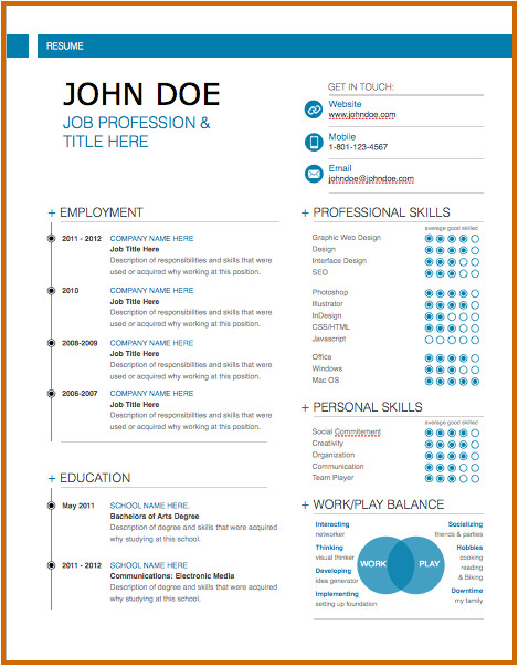 8 innovative resume templates