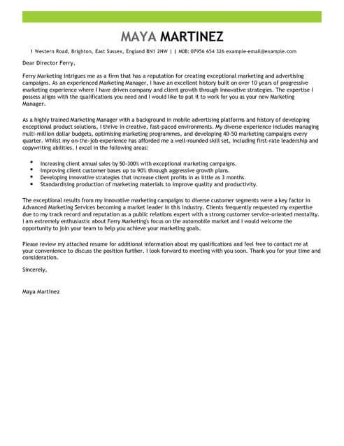 innovation cover letter
