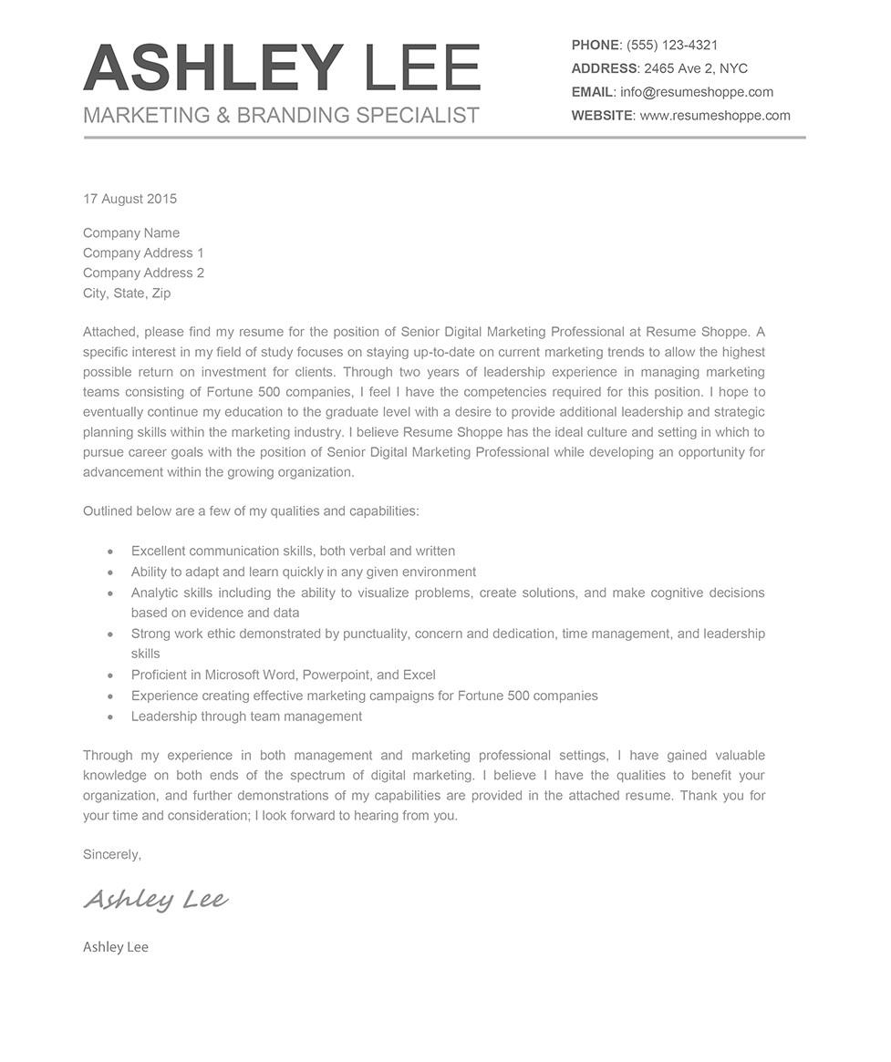 ashley cover letter
